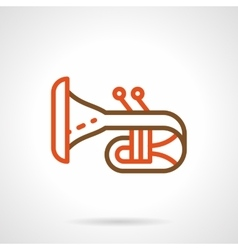 Bugle simple color line icon vector image
