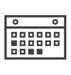 Calendar line icon mobile and website vector