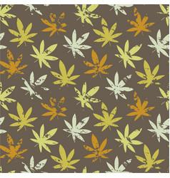 cannabis leaf grunge marijuana leaf seamless vector image