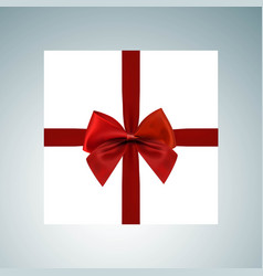 christmas giftbox icon set vector image