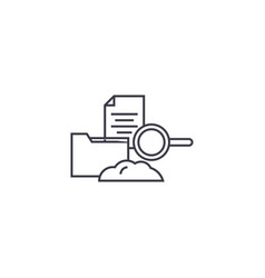 cloud hosting line icon sign vector image