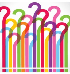 Colorful question mark background vector