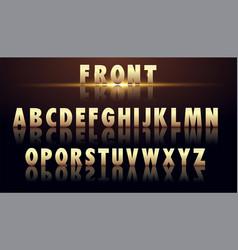 creative golden glossy vector image