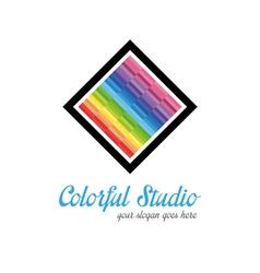 Creative studio logo templates vector