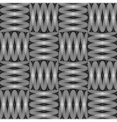 Design seamless monochrome checked pattern vector
