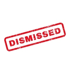 Dismissed Text Rubber Stamp vector