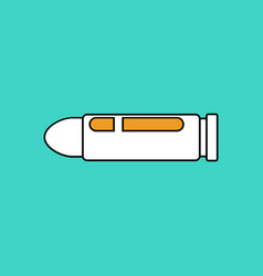 Flat icon design collection military bullet vector