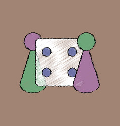 Flat shading style icon board game and dice vector