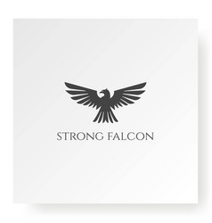 flying strong eagle falcon hawk vow kite phoenix vector image