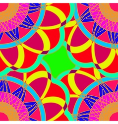 Geometric multicolor fractal mandala seamless vector image
