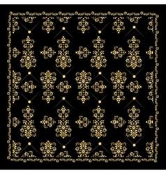 Gold bandana silk scarfluxury golden design vector