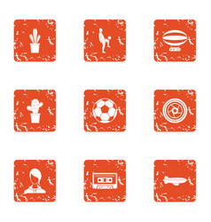 Habitat icons set grunge style vector