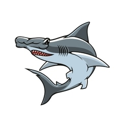 Hammerhead shark isolated mascot icon vector image