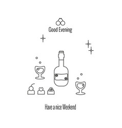 have a nice weekend good evening vector image