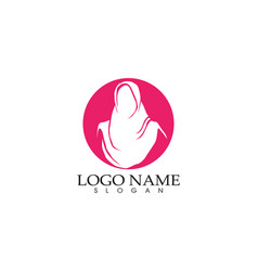 Hijab woman silhouette logo and symbols vector
