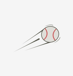 icon of baseball ball vector image