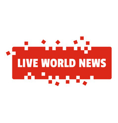 Live world news icon flat style vector