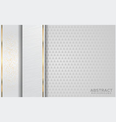 Luxurious modern abstract white with golden lines vector