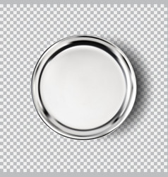 Metal chrome steel plate isolated on transparent vector