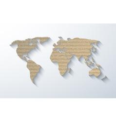 Modern cardboard map background vector