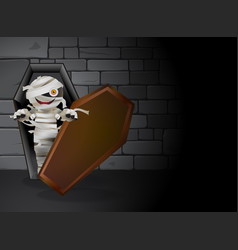 Mummy tomb vector