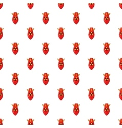 Nuclear warhead pattern cartoon style vector