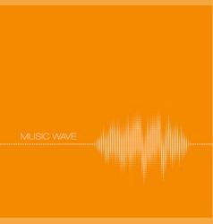 orange equalizer sound wave vector image