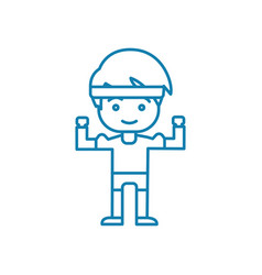 physical workout linear icon concept physical vector image