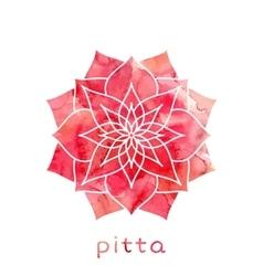 Pitta dosha Ayurvedic body type vector