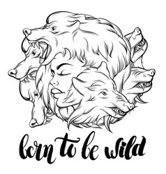 quote typographical background born to be wild vector image