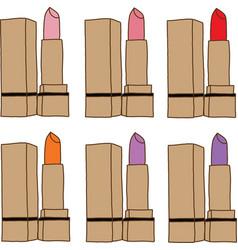 Set of lipsticks vector image