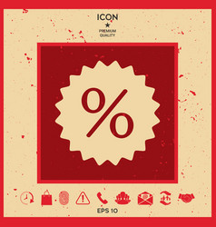 sign percent symbol discount icon vector image