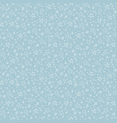 simple seamless pattern with white doodle stars vector image
