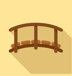 small wood bridge icon flat style vector image