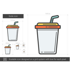 Soda line icon vector