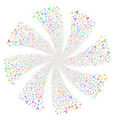 Stomatology fireworks swirl rotation vector