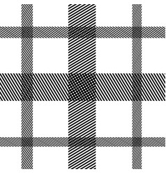 striped black and white vertical horizontal vector image