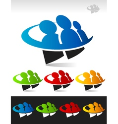 Swoosh People Logo Icon vector image