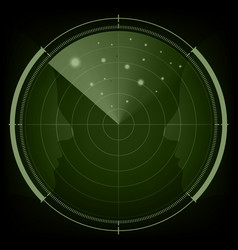 Technology digital future abstract radar screen vector
