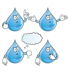 Thinking water drop set vector image