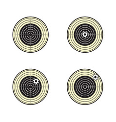 traditional air rifle target vector image