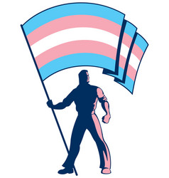 Transgender pride flag bearer vector