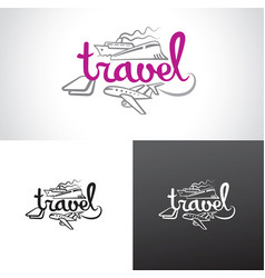 Travel resort agency logo vector