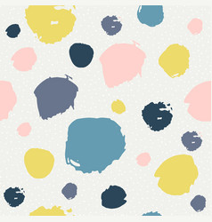 trendy seamless pattern with brush strokes vector image