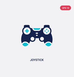 two color joystick icon from electronic devices vector image
