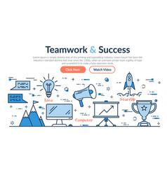 Web site header - teamwork and success vector