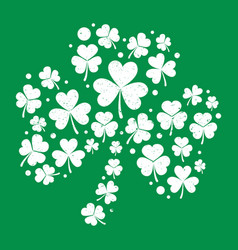 White distressed shamrock shape vector
