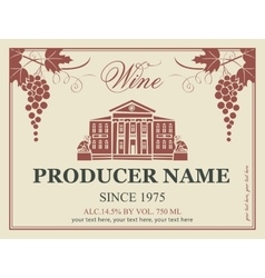 Wine label in retro style vector