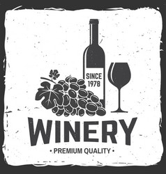winery badge sign or label vector image