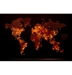 World map low poly flame vector